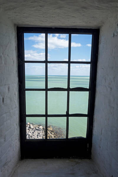 Key Biscayne Photograph - The View From The Lighthouse Window Bill Baggs Lighthouse Key Biscayne Florida by Toby McGuire