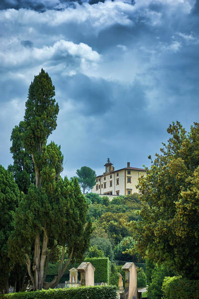 Photograph - Building Seen From The Boboli Gardens In Florence, Italy by Fine Art Photography Prints By Eduardo Accorinti