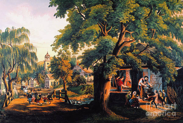 Photograph - The Village Blacksmith by Granger