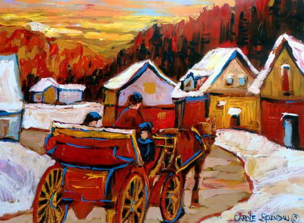 Wall Art - Painting - The Village Of Saint Jerome by Carole Spandau