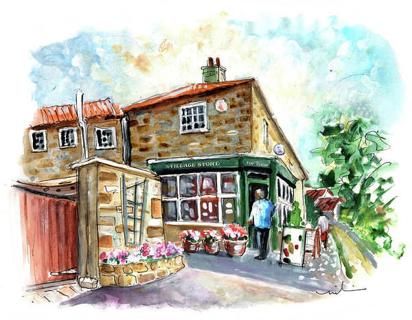 Painting - The Village Shop In Osmotherley by Miki De Goodaboom