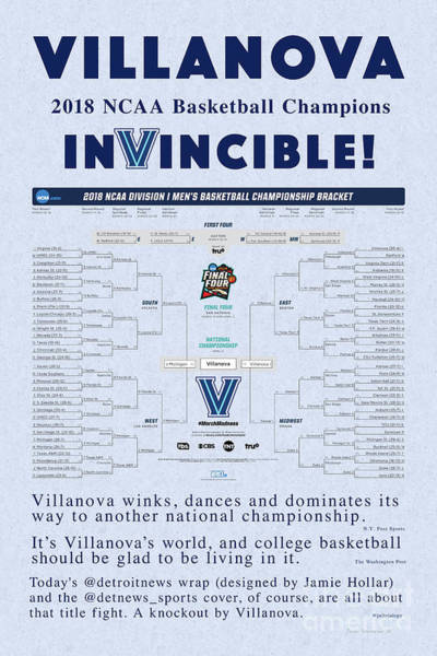 Wall Art - Photograph - The Villanova Dance A Season To Remember Blue Background by John Stephens