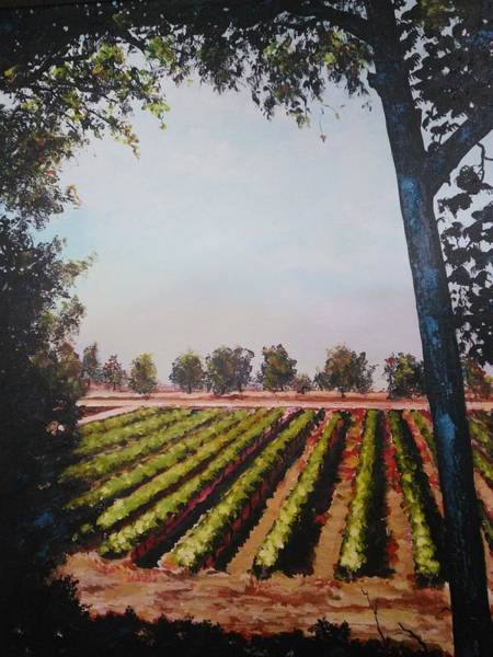 Painting - The Vineyard by Ray Khalife