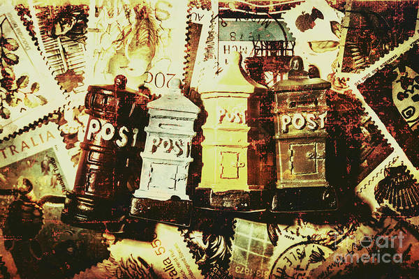 Post Wall Art - Photograph - The Vintage Postage Card by Jorgo Photography - Wall Art Gallery