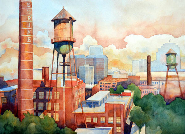 Painting - The Vintage Towers by Mick Williams