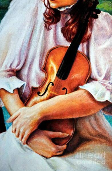Painting - The Violin by Georgia's Art Brush