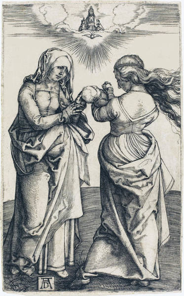Drawing - The Virgin And Child With Saint Anne by Albrecht Durer