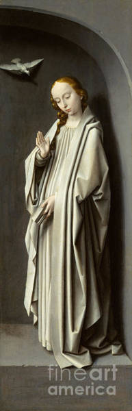 Wall Art - Painting - The Virgin Annunciate by Gerard David