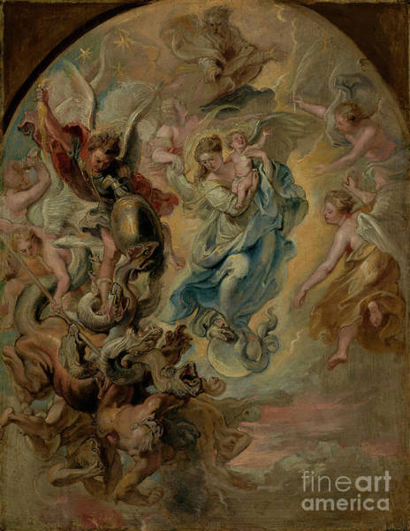 Dali Painting - The Virgin As The Woman Of The Apocalypse By Peter Paul Rubens  by Esoterica Art Agency