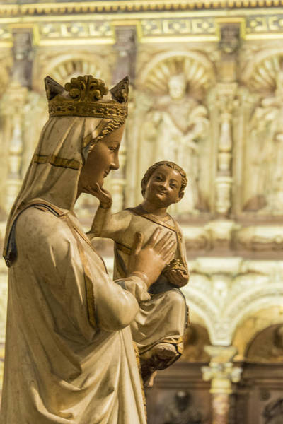 Blanca Wall Art - Photograph - The Virgin Blanca Or Smiling Madonna - Toledo Cathedral - Toledo Spain by Jon Berghoff