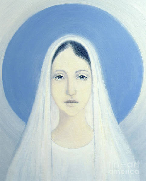 Wall Art - Painting - The Virgin Mary by Elizabeth Wang