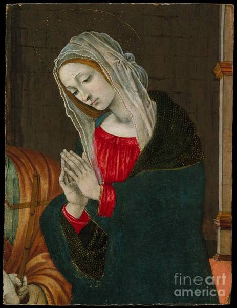 Painting - The Virgin Of The Nativity by Celestial Images
