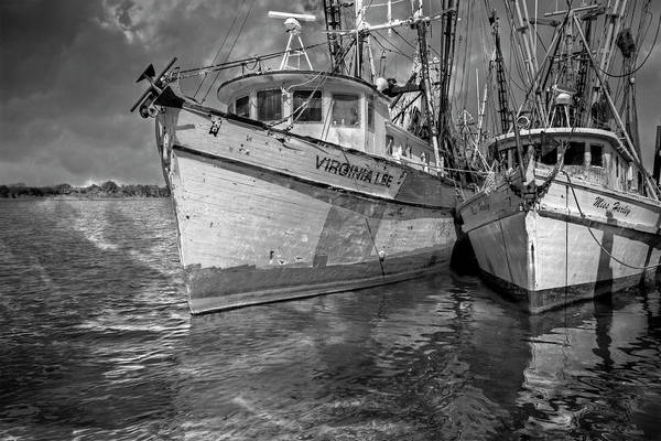 Photograph - The Virginia Lee And The Miss Harley In Black And White by Debra and Dave Vanderlaan