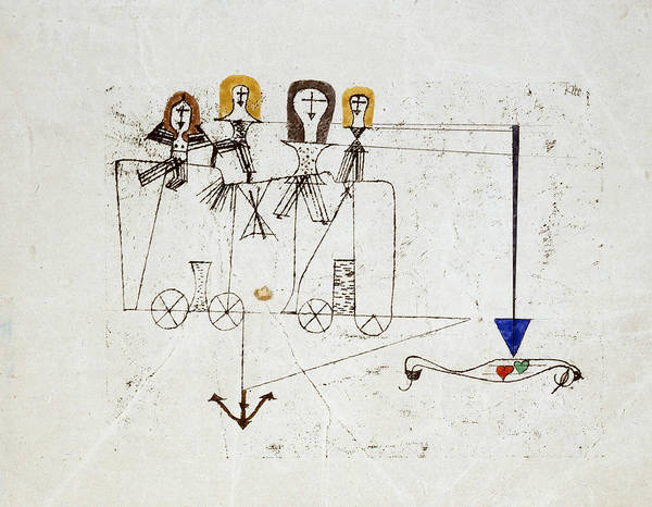 Drawing - The Virtue Wagon  by Paul Klee