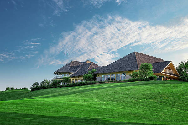 Course Wall Art - Photograph - The Virtues Golf Course Clubhouse by Tom Mc Nemar