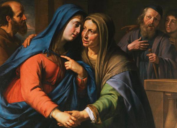 Pregnancy Painting - The Visitation by Philippe de Champaigne