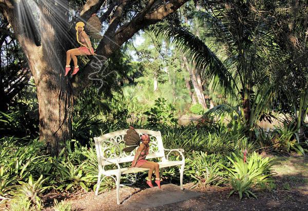 Park Bench Mixed Media - The Visitors by Rosalie Scanlon