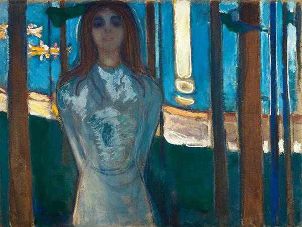 Norwegian Painting - The Voice Summer Night  by Edvard Munch