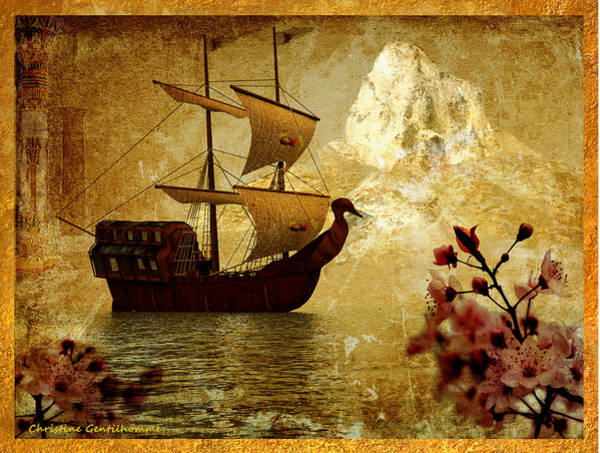 Realization Digital Art - The Voyage by Christine Gentilhomme