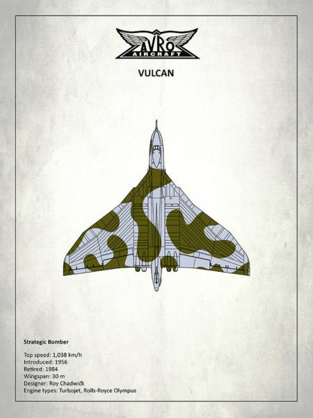 Avro Wall Art - Photograph - The Vulcan - White by Mark Rogan
