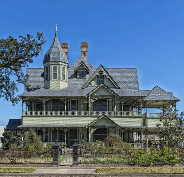 Queen Anne Style Photograph - The W H Stark House Of Orange Texas by Mountain Dreams