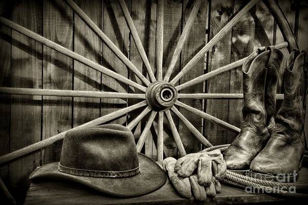 Pokes Wall Art - Photograph - The Wagon Master In Black And White by Paul Ward