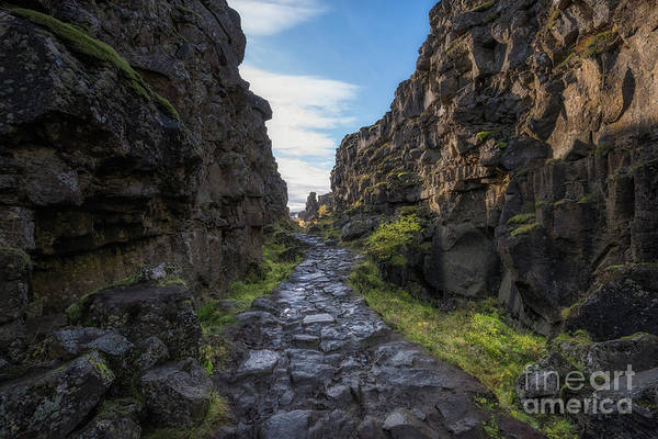 Photograph - The Walk Between Continental Plates by Michael Ver Sprill