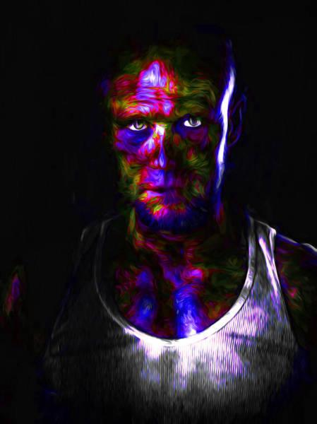 Photograph - The Walking Dead Painted Michael Rooker Merle Dixon by David Haskett II