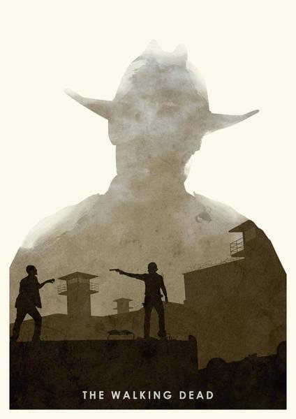 Grime Digital Art - The Walking Dead by Ripley
