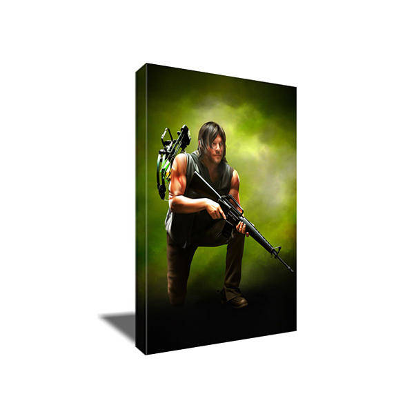 The Walking Dead Painting - The Walking Dead's Daryl Dixon Canvas Art by Art-Wrench Com