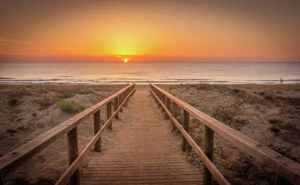Photograph - The Walkway To The Sun. by Gary Gillette