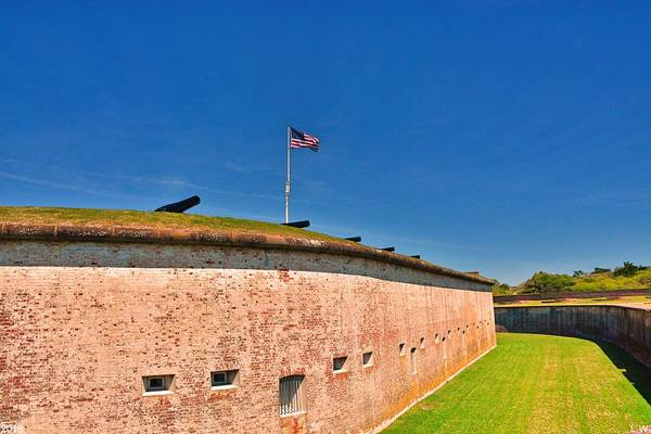 Battle Of The Atlantic Wall Art - Photograph - The Wall At Fort Macon North Carolina by Lisa Wooten