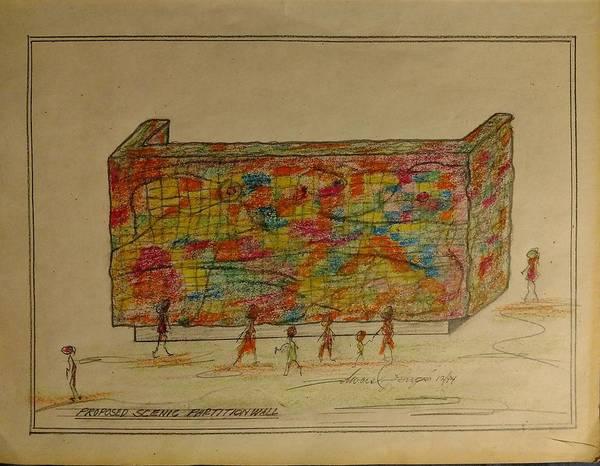 Developed Drawing - The Wall by Edward Longo