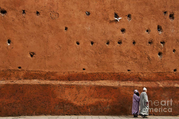 Morocco Wall Art - Photograph - The Wall by Marion Galt