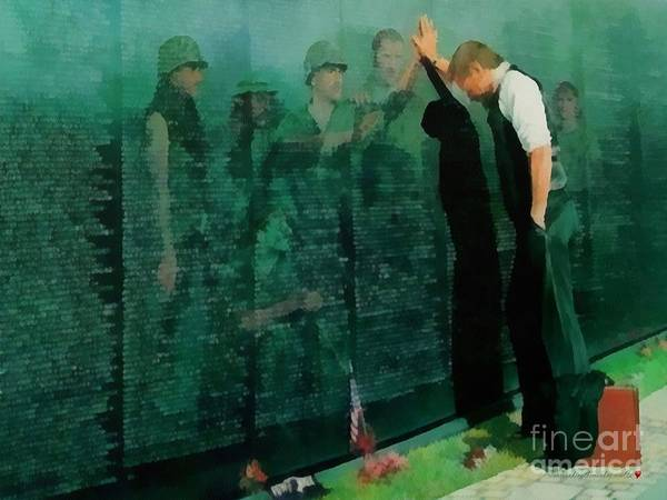 Painting - The Wall The Memorial The Reasons by Catherine Lott