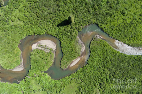 Uas Wall Art - Photograph - The Wandering River by Dusty Demerson