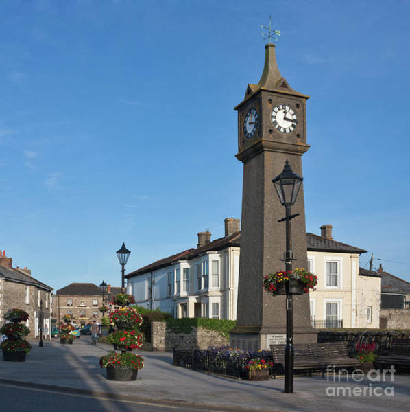 Penwith Photograph - The War Memorial Clock Tower Of St Just by Terri Waters