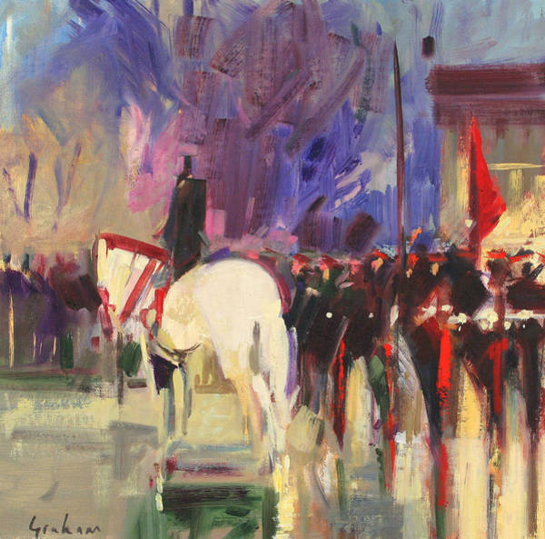 Platoon Wall Art - Painting - The Warhorse  Sandhurst by Peter Graham
