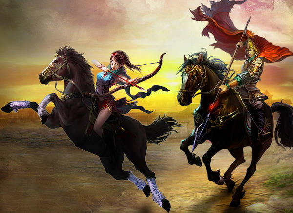 Sports Digital Art - The Warlords by Super Lovely