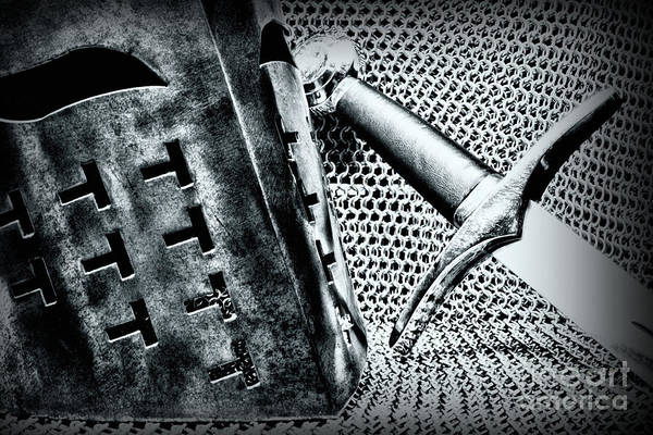 Knights Templar Photograph - The Warrior Knight Black Version by Paul Ward
