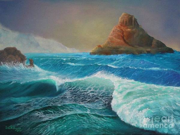 Painting - The Warrior.......coastal Ireland by Bob Williams
