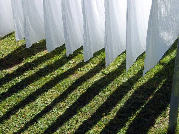 Photograph - The Washing Is On The Line - Shadow Play by Matthias Hauser