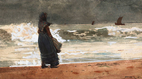 Painting - The Watcher Tynemouth by Winslow Homer