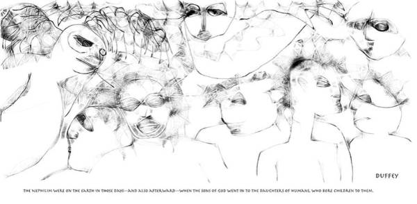 Digital Art - The Watchers - Genesis 6-4 by Doug Duffey