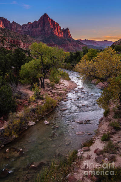 Wall Art - Photograph - The Watchman At Dusk by Jamie Pham