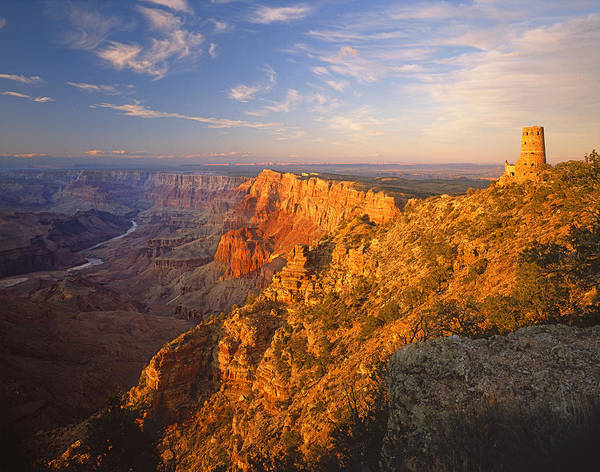 Photograph - 713262-the Watchtower And Grand Canyon  by Ed  Cooper Photography