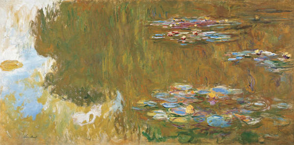 Painting - The Water Lily Pond, 1917-1919 by Claude Monet