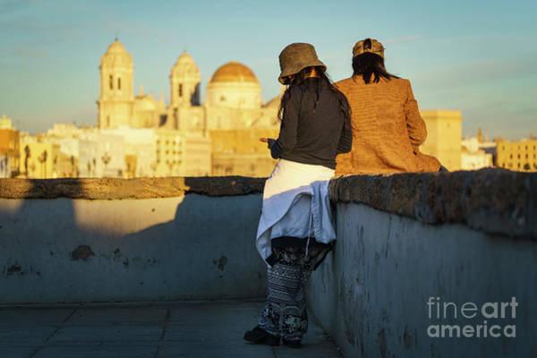 Photograph - The Watercolorist Cathedral Cadiz Spain by Pablo Avanzini
