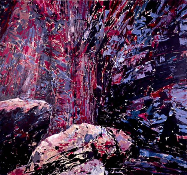 Wall Art - Painting - The Waterfall by Vladimir Vlahovic