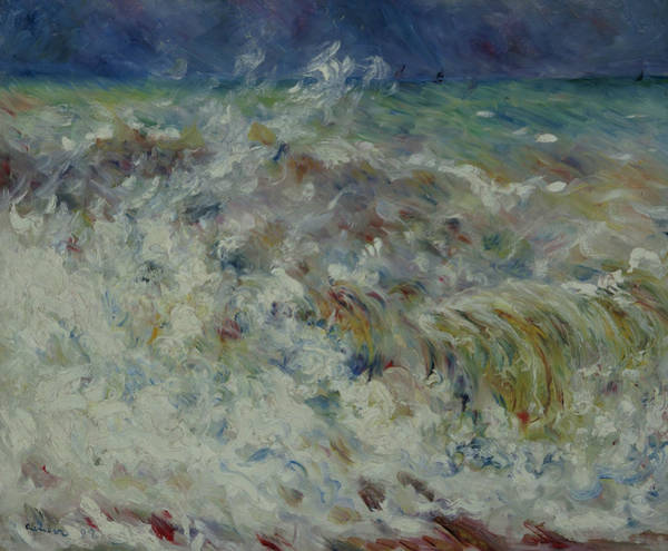 Painting - The Wave by Auguste Renoir